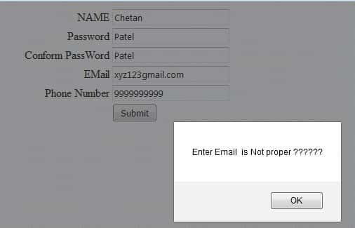 Asp.Net form validation using JavaScript