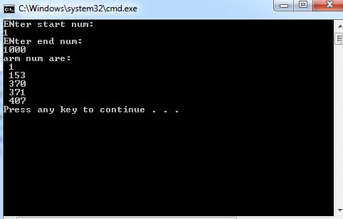 C# Program to Check Whether the Entered Number is an Armstrong Number or Not