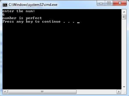 C# Program to Check Whether the Entered Number is a Perfect Number or Not