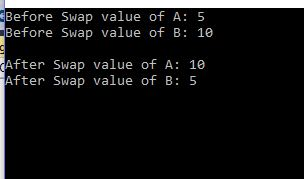 C# Program to swap two numbers without third variable