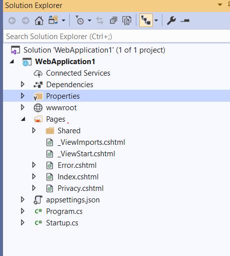 Asp.Net Core page folder