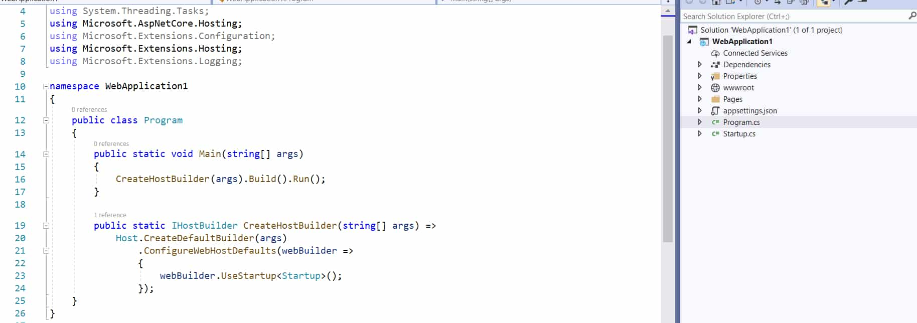 Asp.Net Core program file