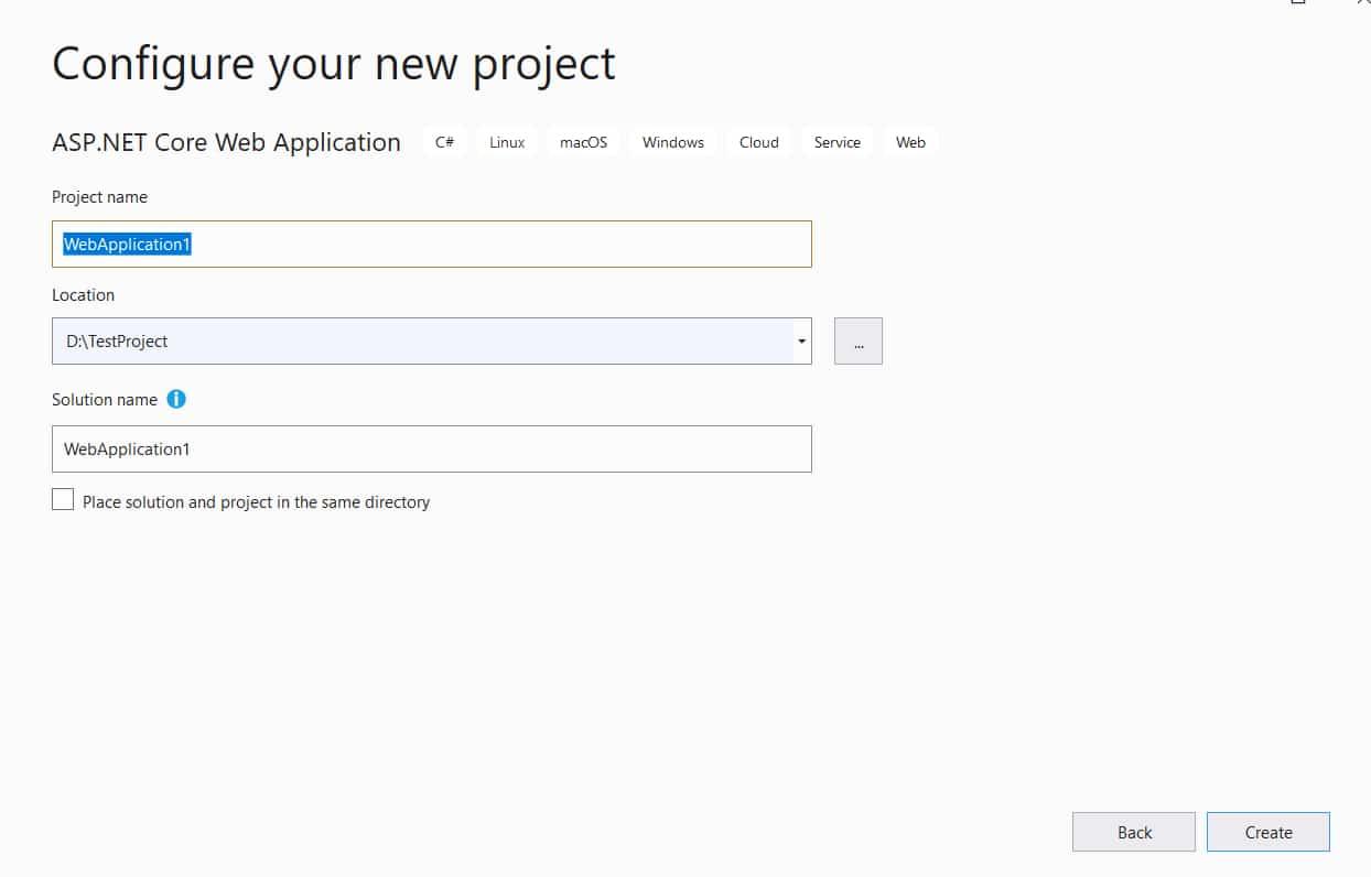 Configure your asp.net code project