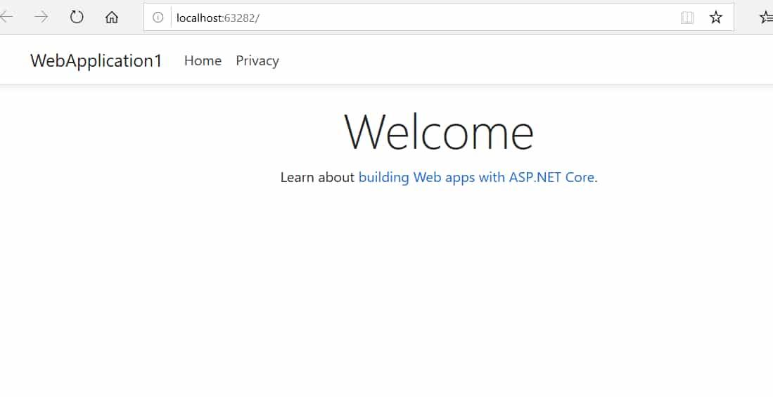 Dot net core application