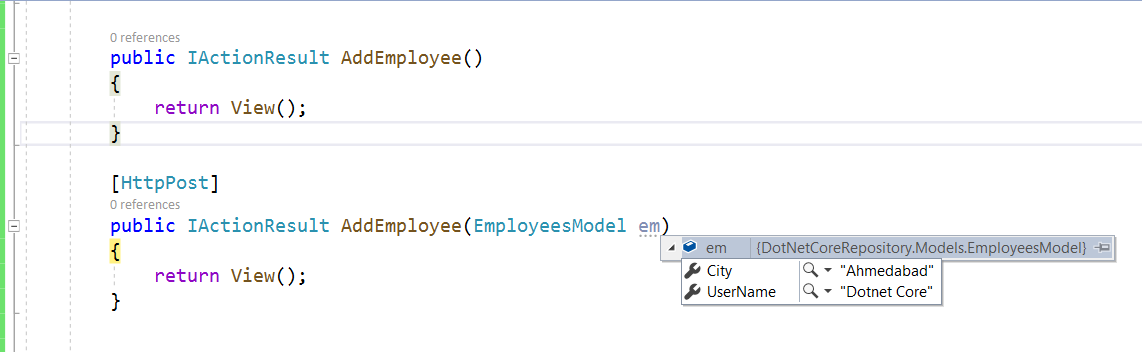 .Net Core Form Submit with Example
