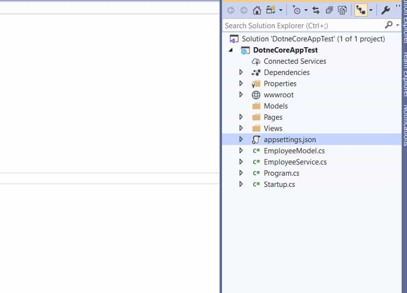 .Net Core Read Connection String from AppSettings.json file
