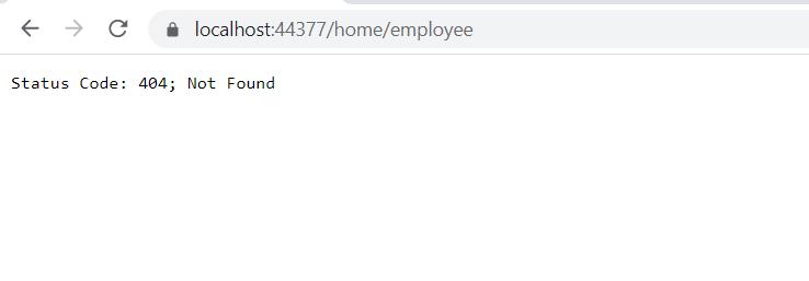 404 error handling .Net core